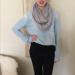 🐘 Gray/grey super soft infinity circle scarf